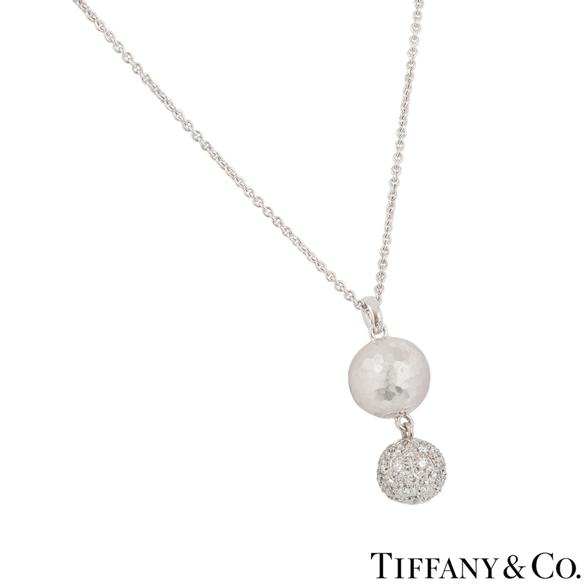 Tiffany & Co. White Gold Paloma Picasso Diamond Necklace